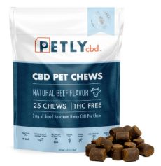 Pet Hemp CBD Dog Treats - 25 Chews
